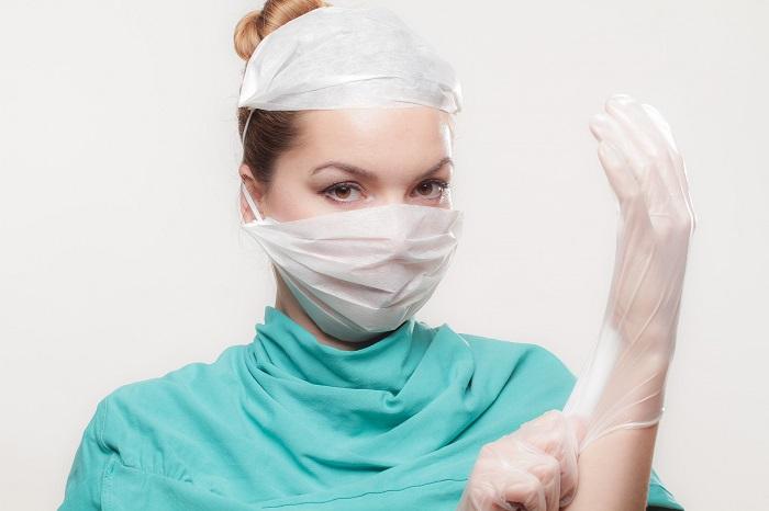 Pracovné rukavice pre sestričky